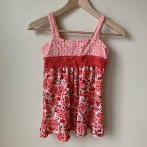 Limited Too | Girls' Pink & Red Floral Dress - 14